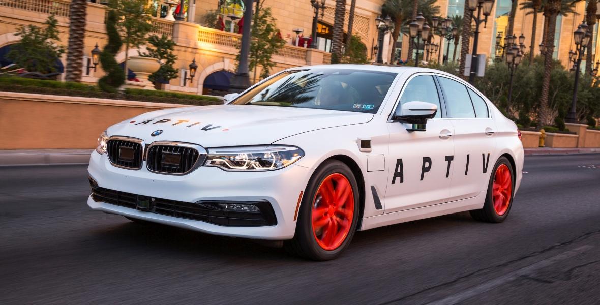 Samochód autonomiczny z systemem firmy Aptiv w 2017 r. w Las Vegas