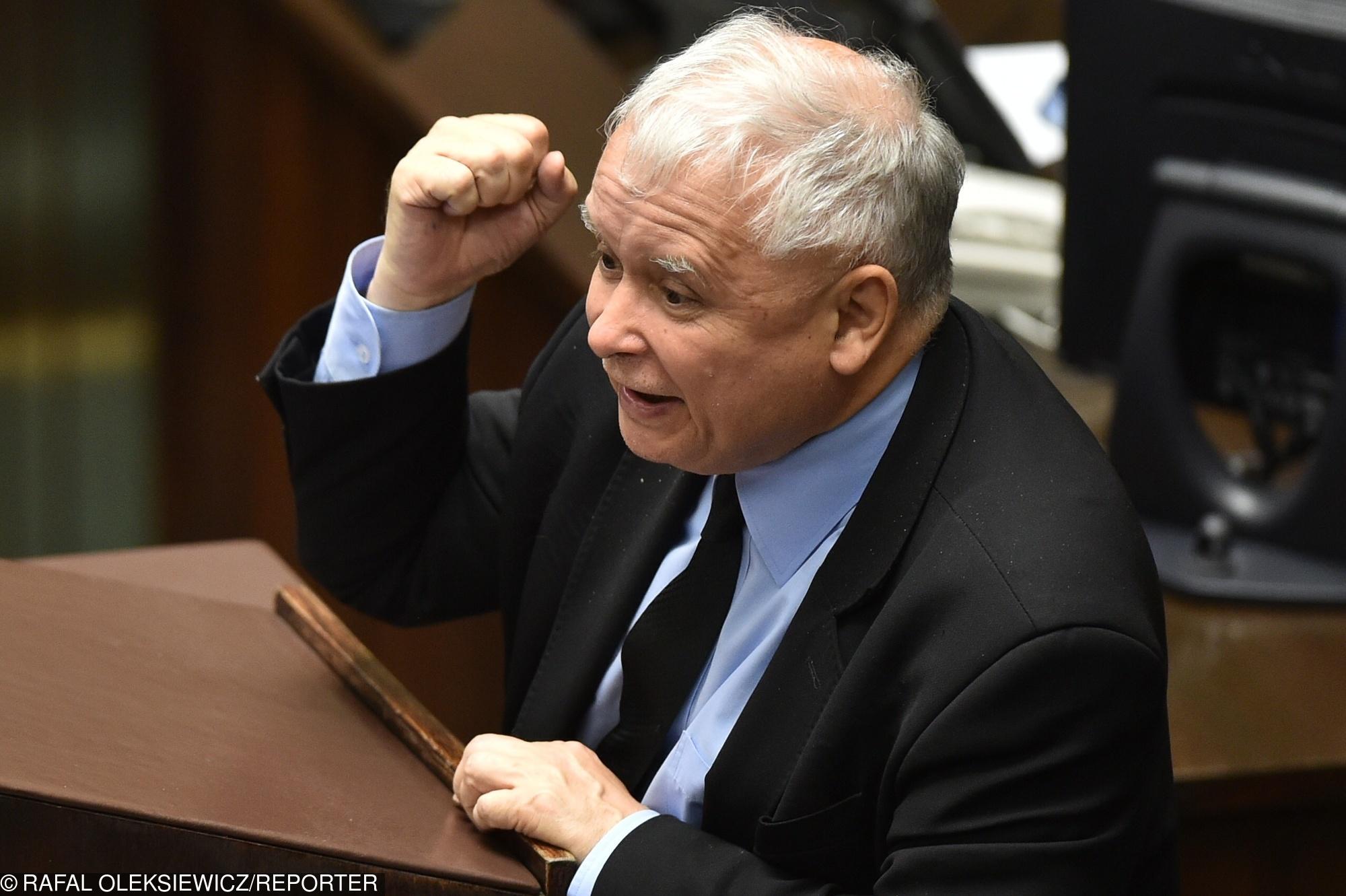 Znalezione obrazy dla zapytania kaczyński zły