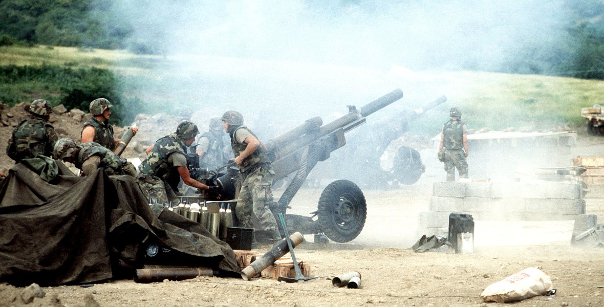 Amerykańscy żołnierze biorący udział w operacji Urgent Fury
