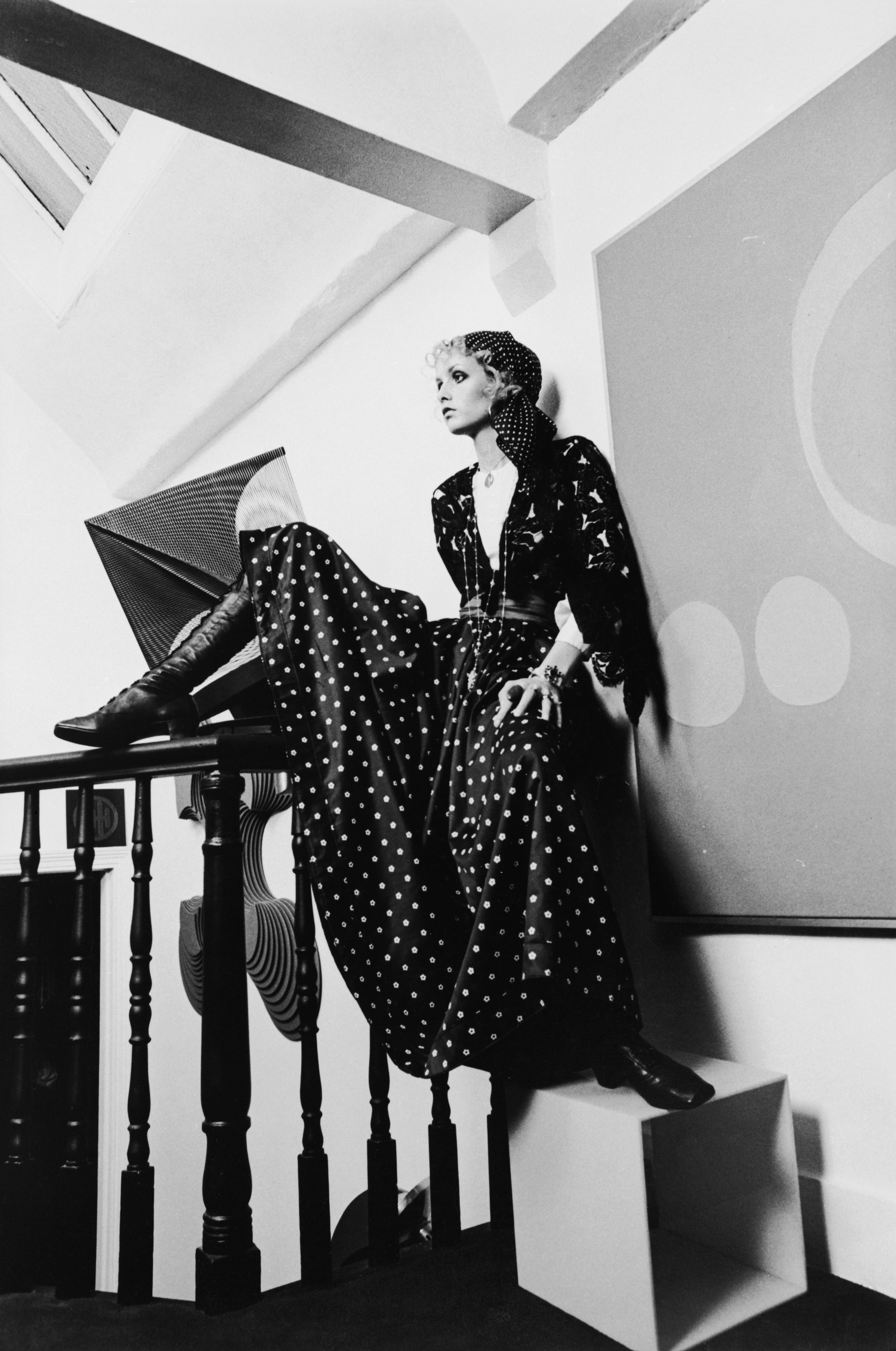 Słynna modelka Twiggy w 1968 r.