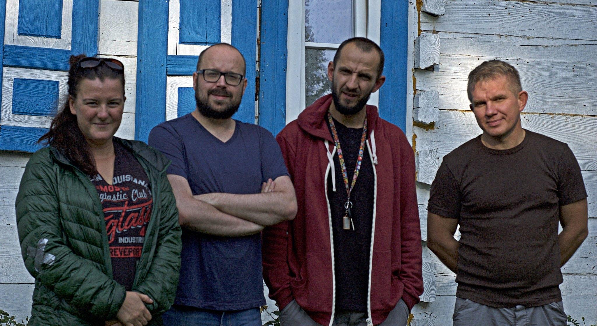 Na zdj. od lewej: Joanna Pawluśkiewicz, Grzegorz Wysocki, Michał Książek, Adam Bohdan