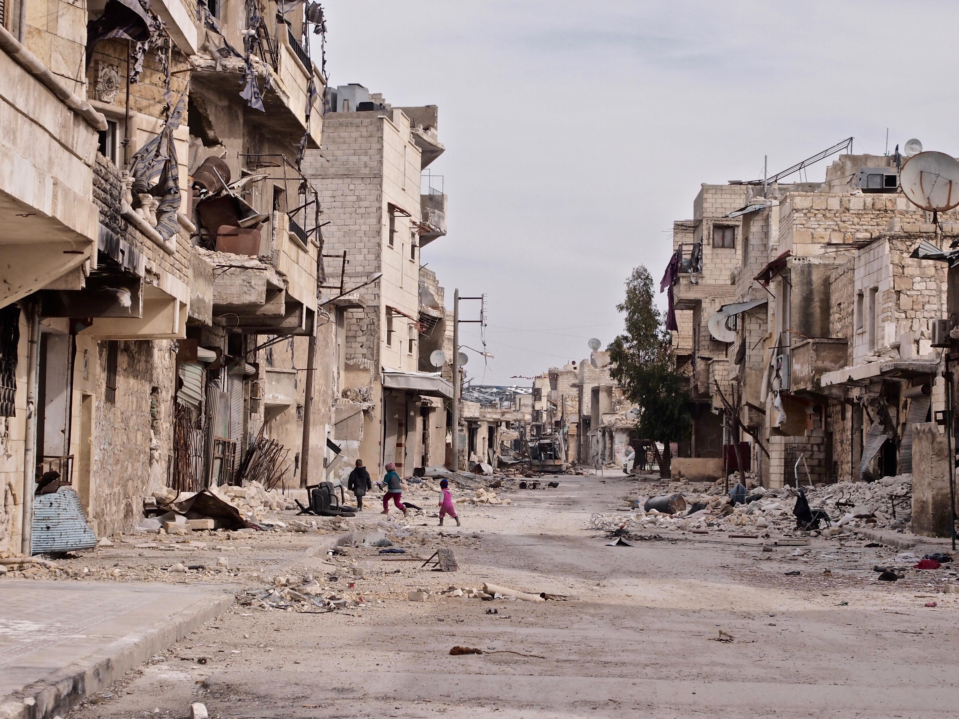 Ulica wschodniego Aleppo, dzielnica Jabal Badru