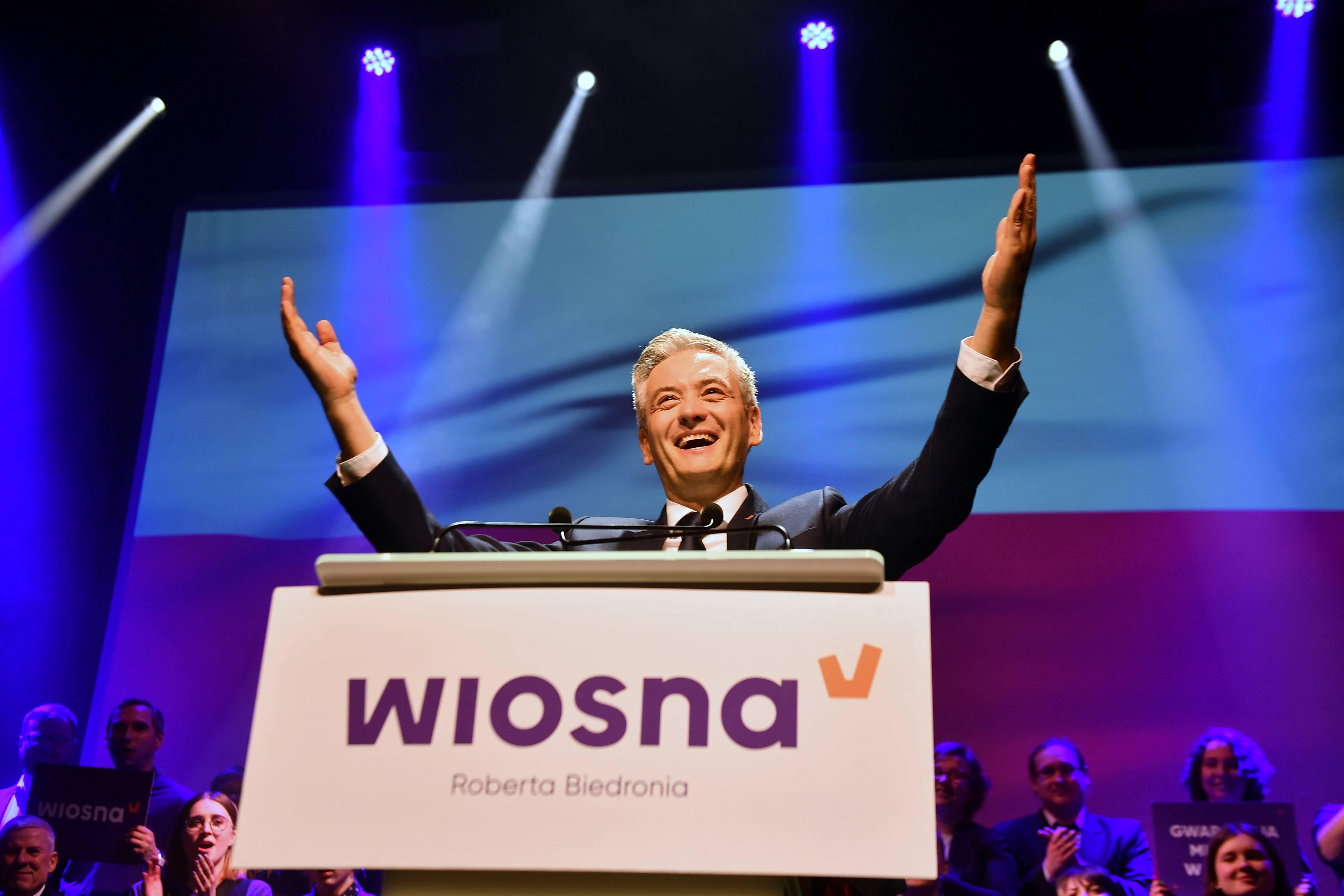 kupić najbardziej popularny duża zniżka Konwencja wyborcza Wiosny Roberta Biedronia - WP Wiadomości