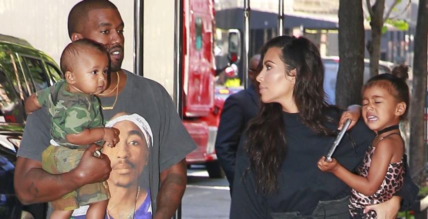 Kim Kardashian, Kanye West, mała North i Saint West