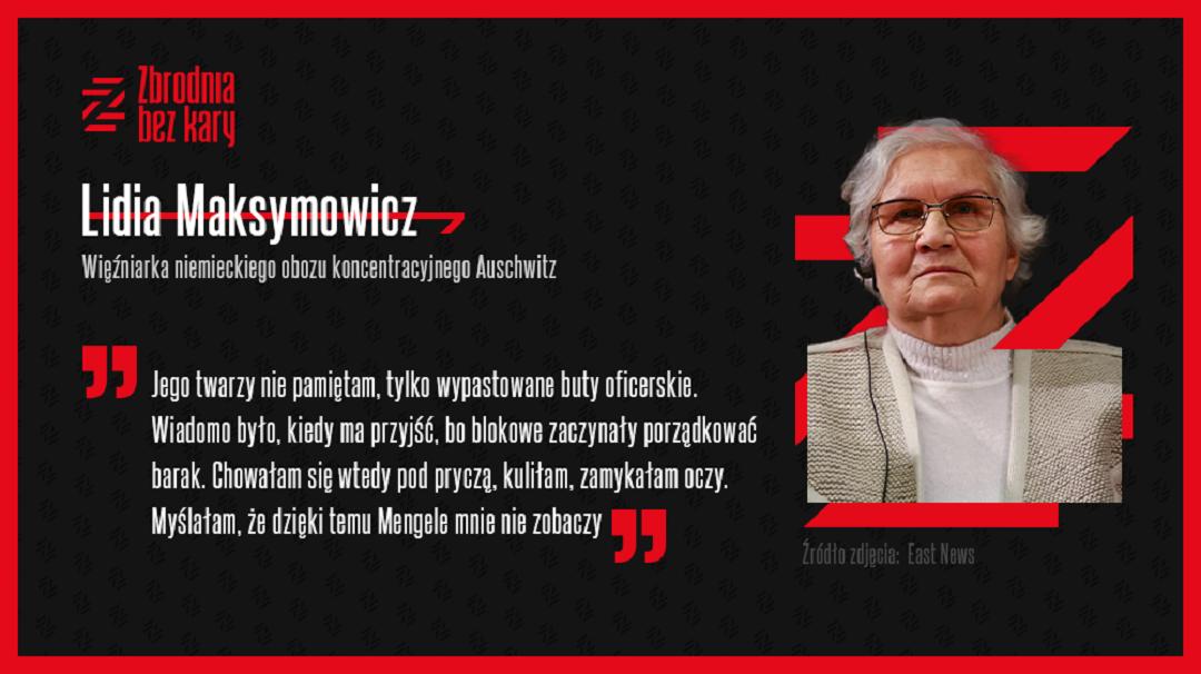 Lidia Maksymowicz o pobycie w Auschwitz.