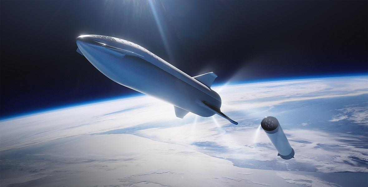 Rakieta BFR (Big Falcon Rocket) firmy SpaceX ma pozwolić ludziom dotrzeć na Marsa, a także pomóc w szybszym przemieszczaniu się pomiędzy odległymi miastami na Ziemi.