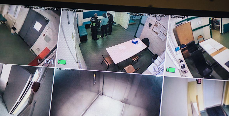 Wszystko, co dzieje się na izbie wytrzeźwień, rejestrują kamery monitoringu
