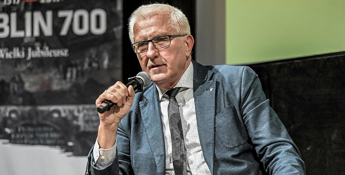 18.10.2017 Lublin, Centrum Spotkania Kultur. Wadim Tyszkiewicz podczas debaty