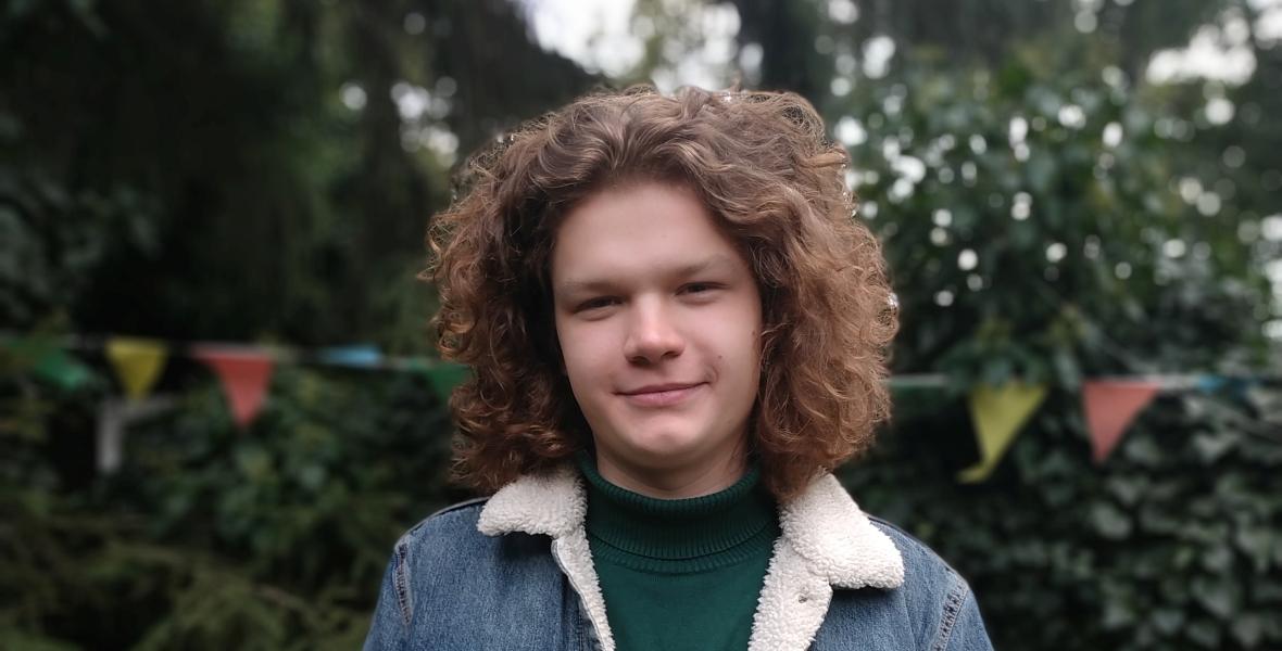 Michał Kiwerski, jeden z działaczy Młodzieżowego Strajku Klimatycznego