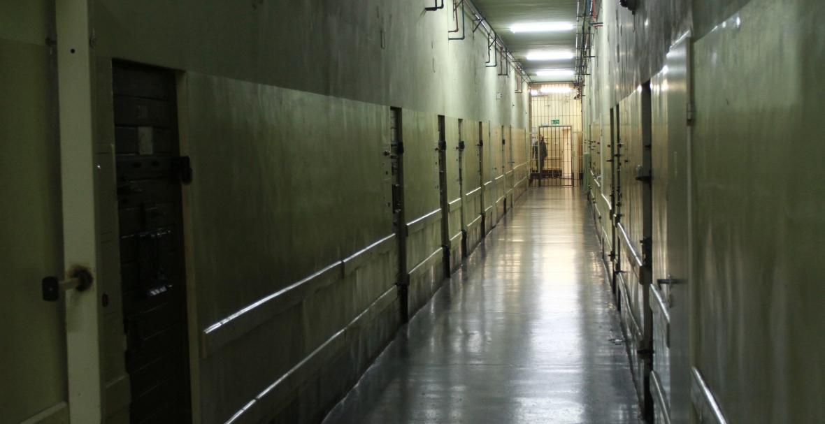 Areszt Śledczy przy ul. Montelupich 7 w Krakowie, korytarz na bloku penitencjarnym