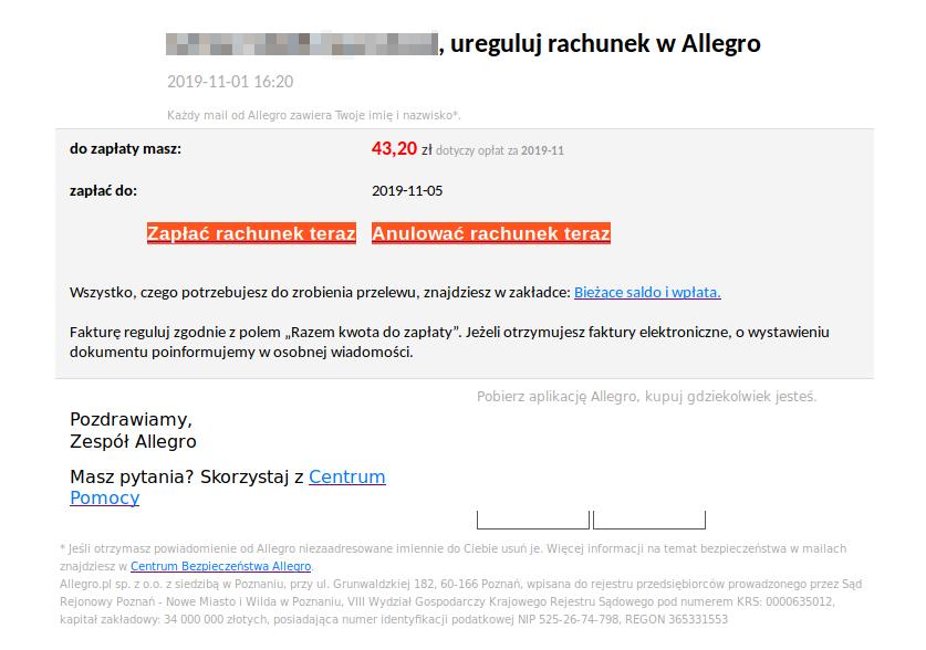 Oszustwo Na Allegro Przestepcy Podszywaja Sie Pod Serwis Wp Tech