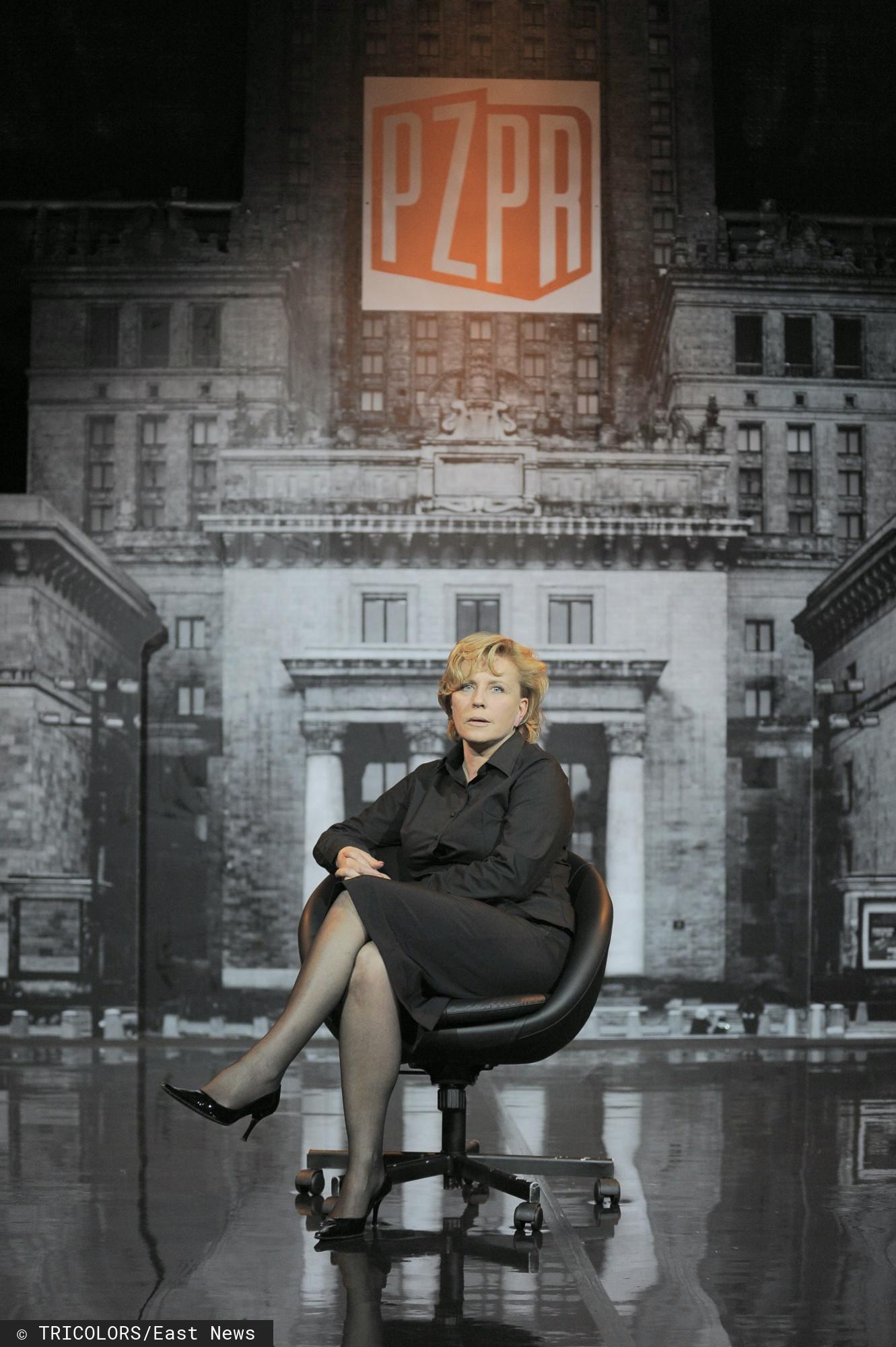 Krystyna Janda w spektaklu BIAŁA BLUZKA w 2010 r.