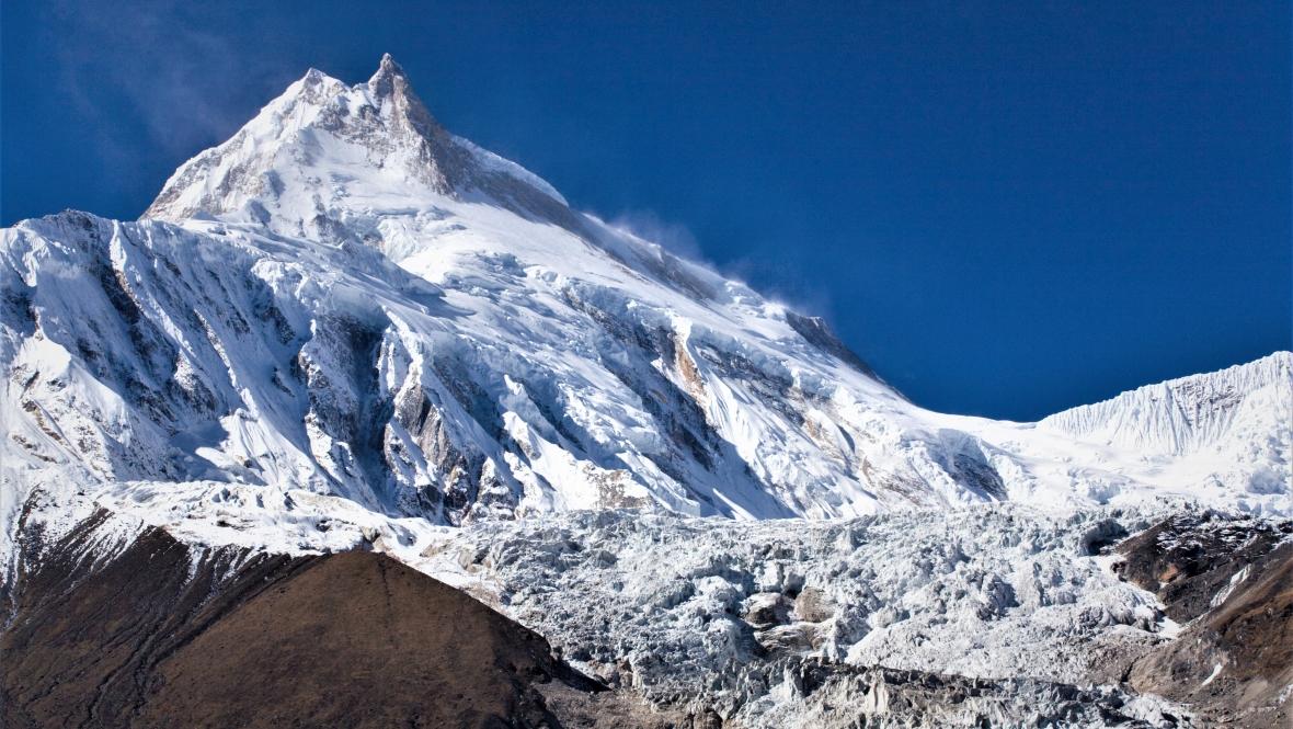 Manaslu, ósmy najwyższy szczyt świata (8163 m n.p.m.)