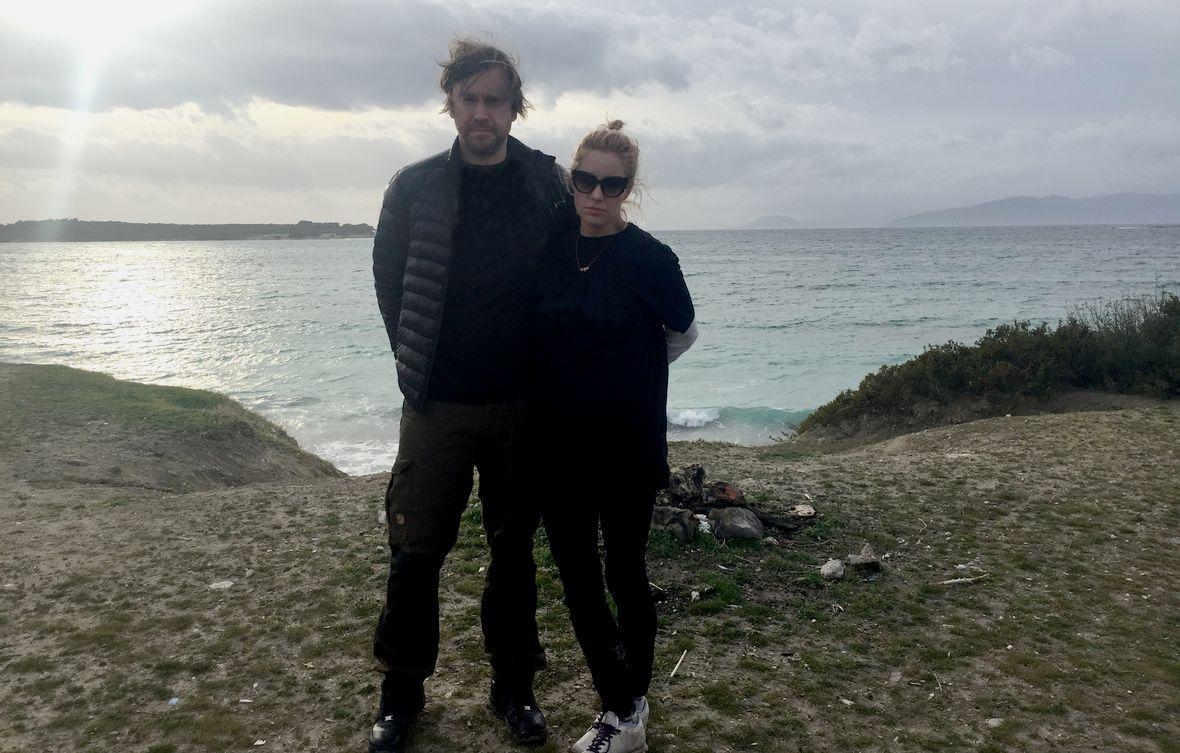 Annah Björk i Mattias Beijmo, autorzy książki, w Turcji