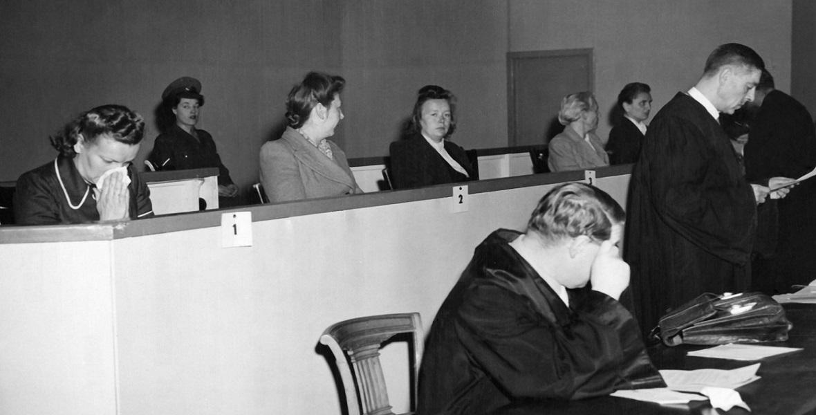 Proces władz i załogi obozu koncentracyjnego w Ravensbrueck, 1948, Hamburg.