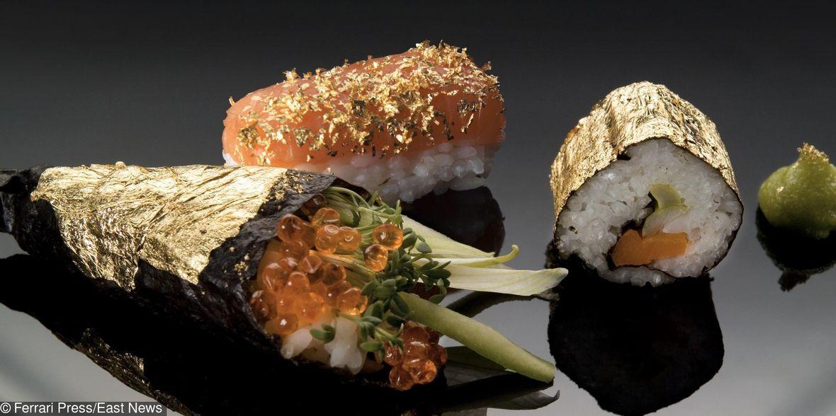 Przepych w czystej postaci - złote sushi
