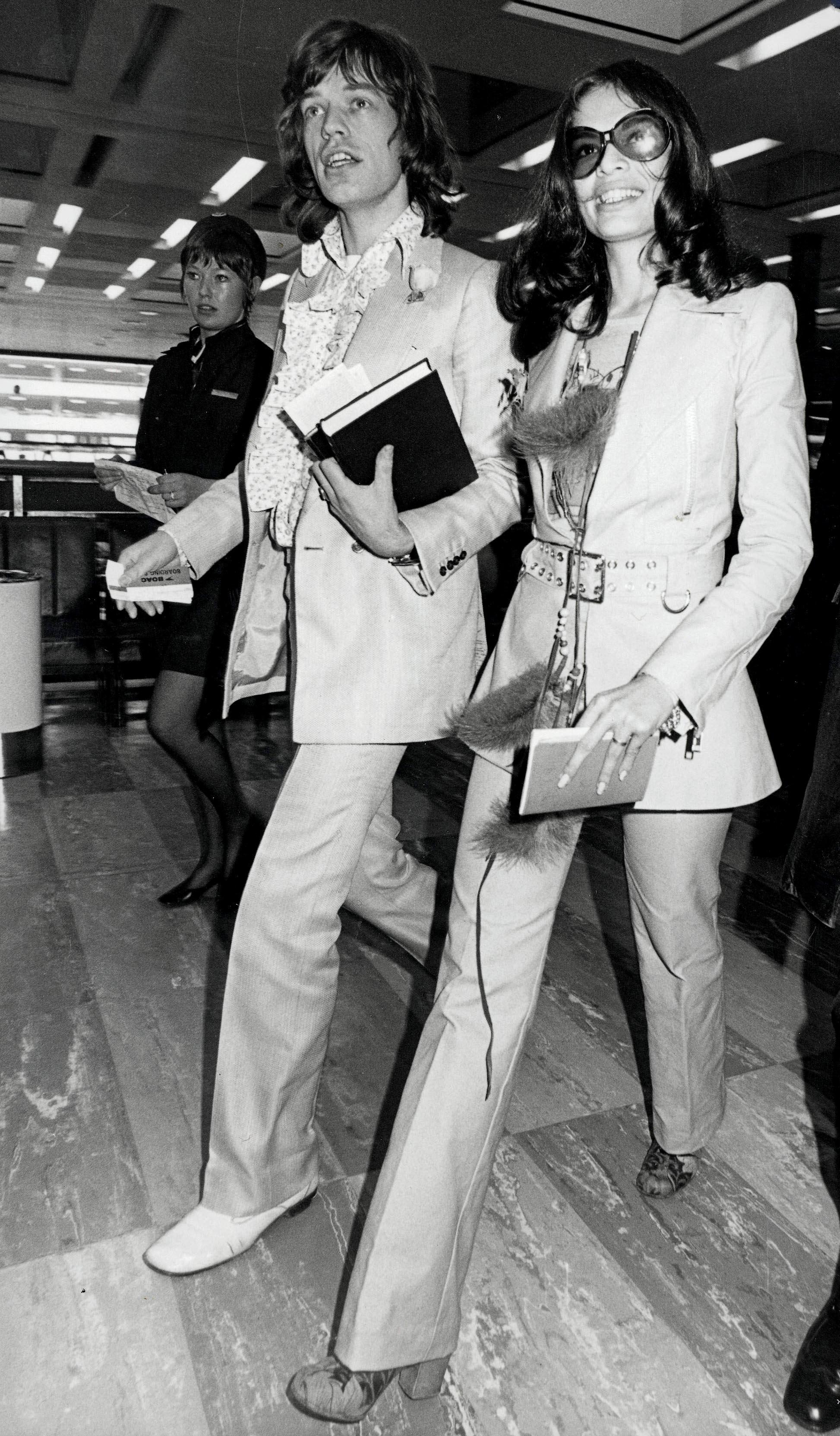 Mick Jagger i Bianca Jagger w 1970.