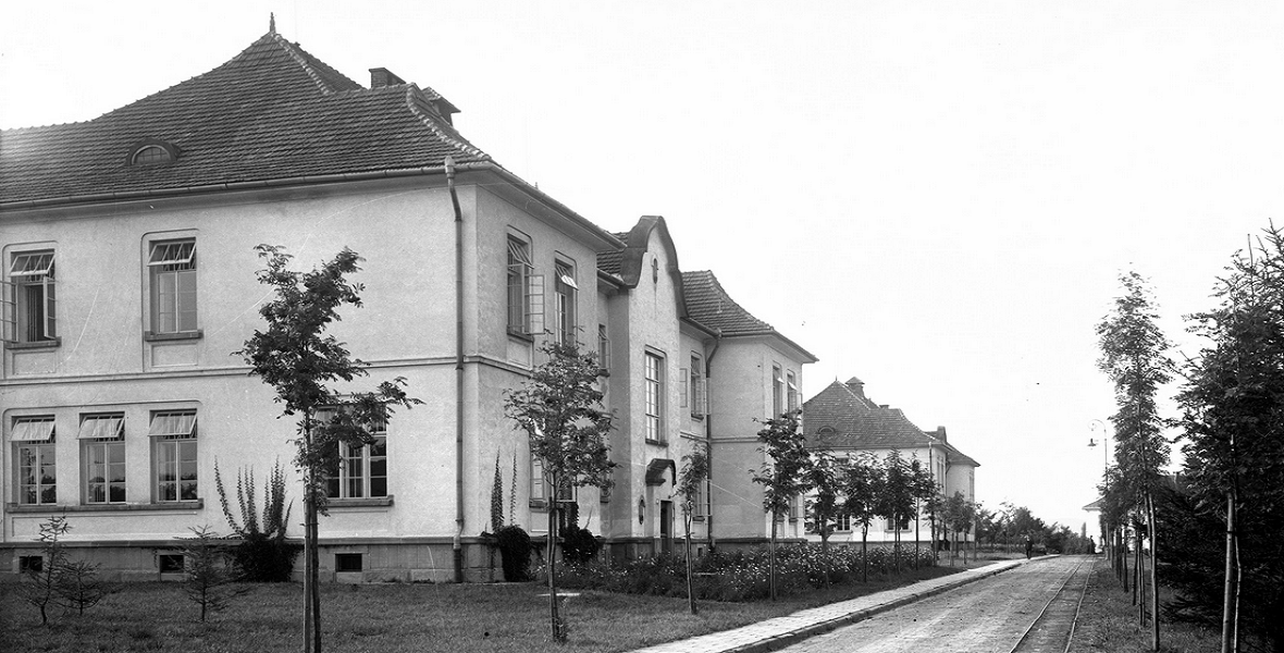 Budynki szpitalne. Sierpień 1927