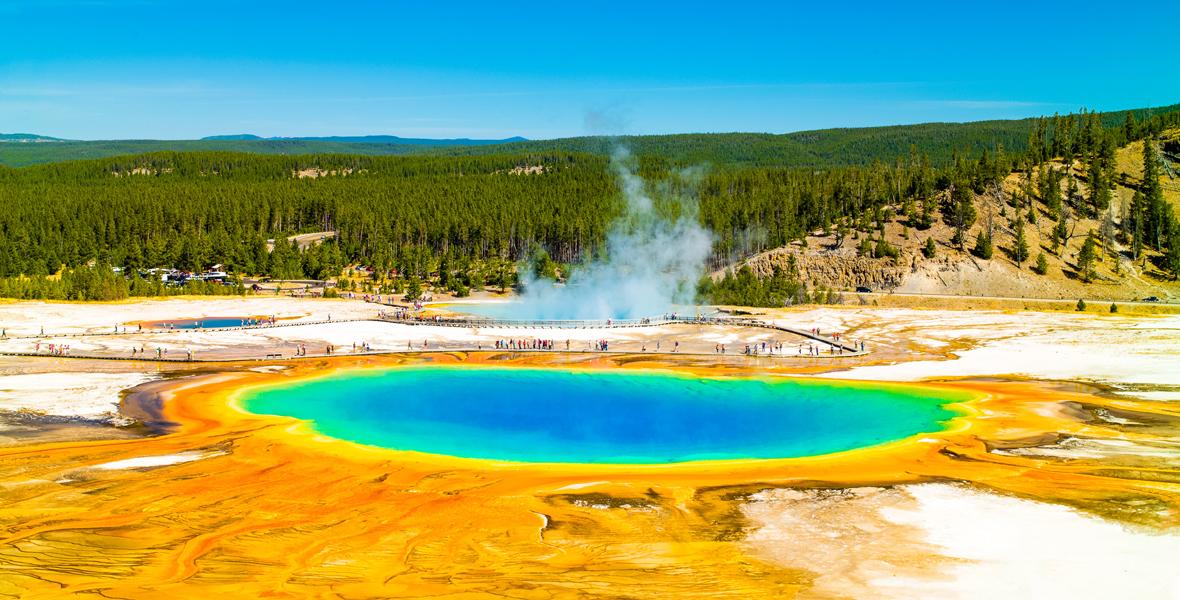 Pod Yellowstone znajduje się kaldera wulkanu o powierzchni 4 tysięcy metrów kwadratowych