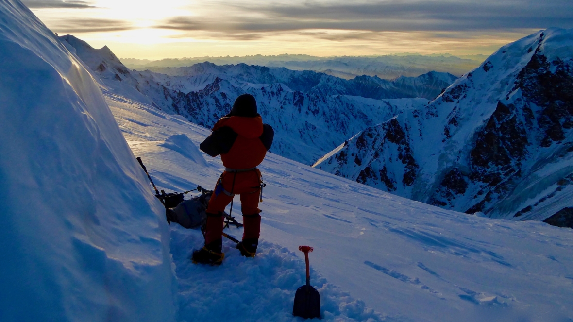 Tomasz Mackiewicz podczas wspinaczki na Nanga Parbat