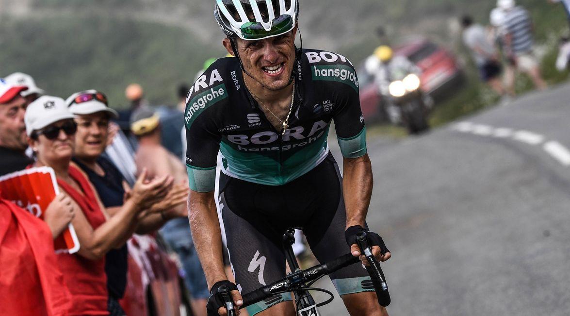 Przełęcz Col d'Aubisque. Rafał Majka podczas 19. etapu Tour de France 2018.