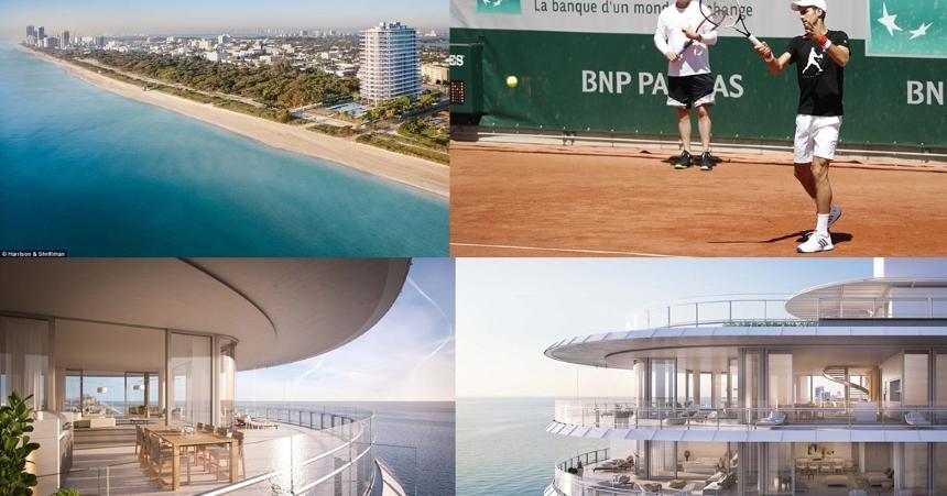 Novak Djoković i Jelena Djoković z synkiem Stefanem – Miami Beach, Floryda, USA