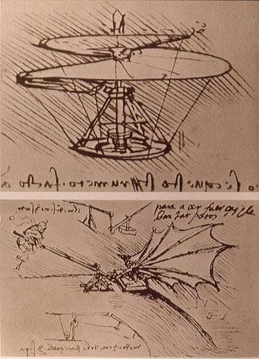 Latające maszyny Leonarda da Vinci