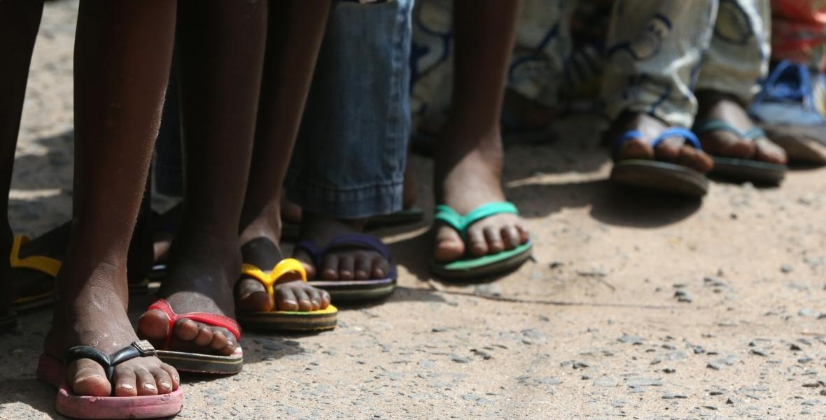 Dzieci w szkole podstawowej w Lome w Togo