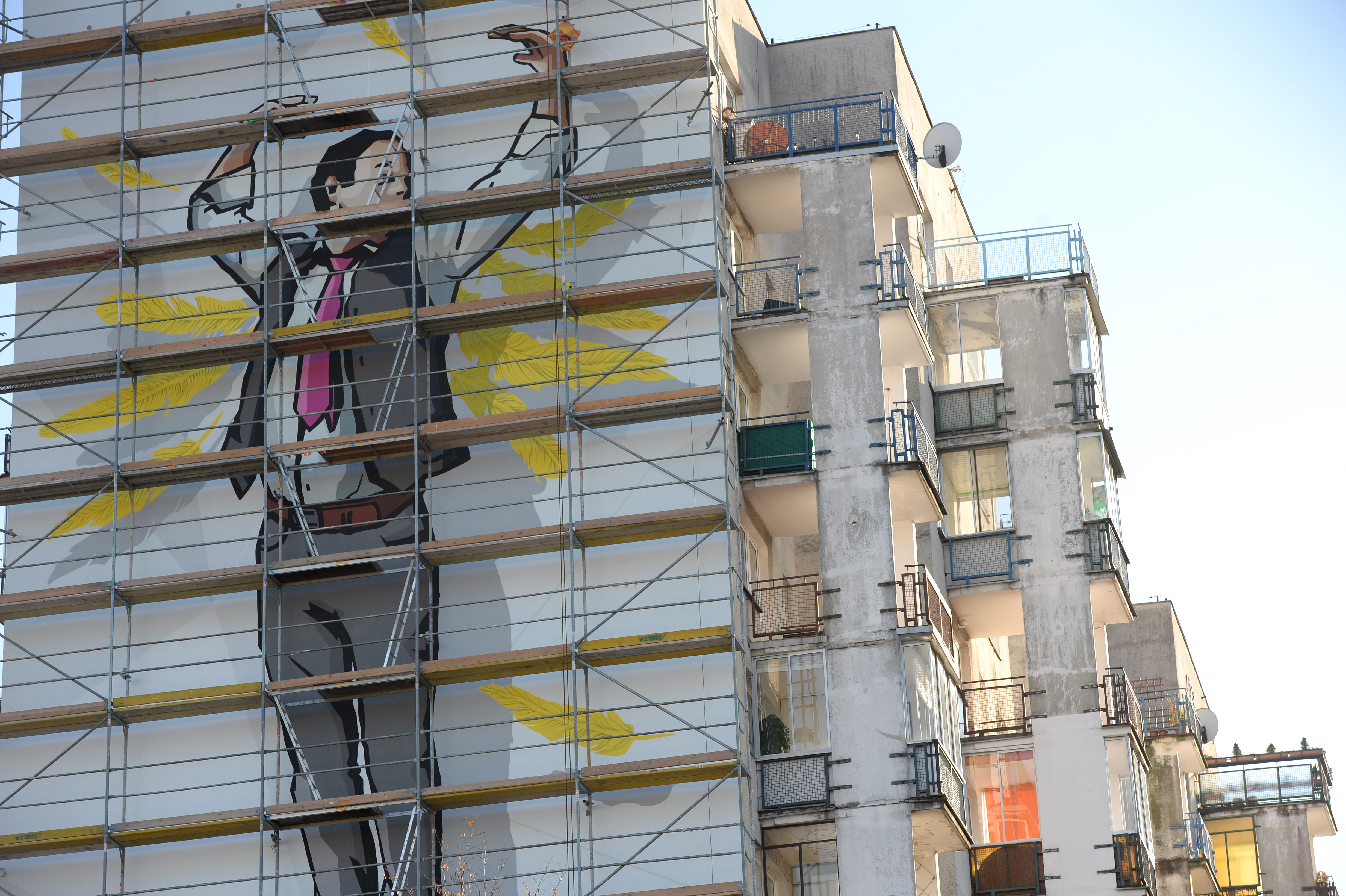 Stanis aw anio ma sw j mural for Mural ursynow