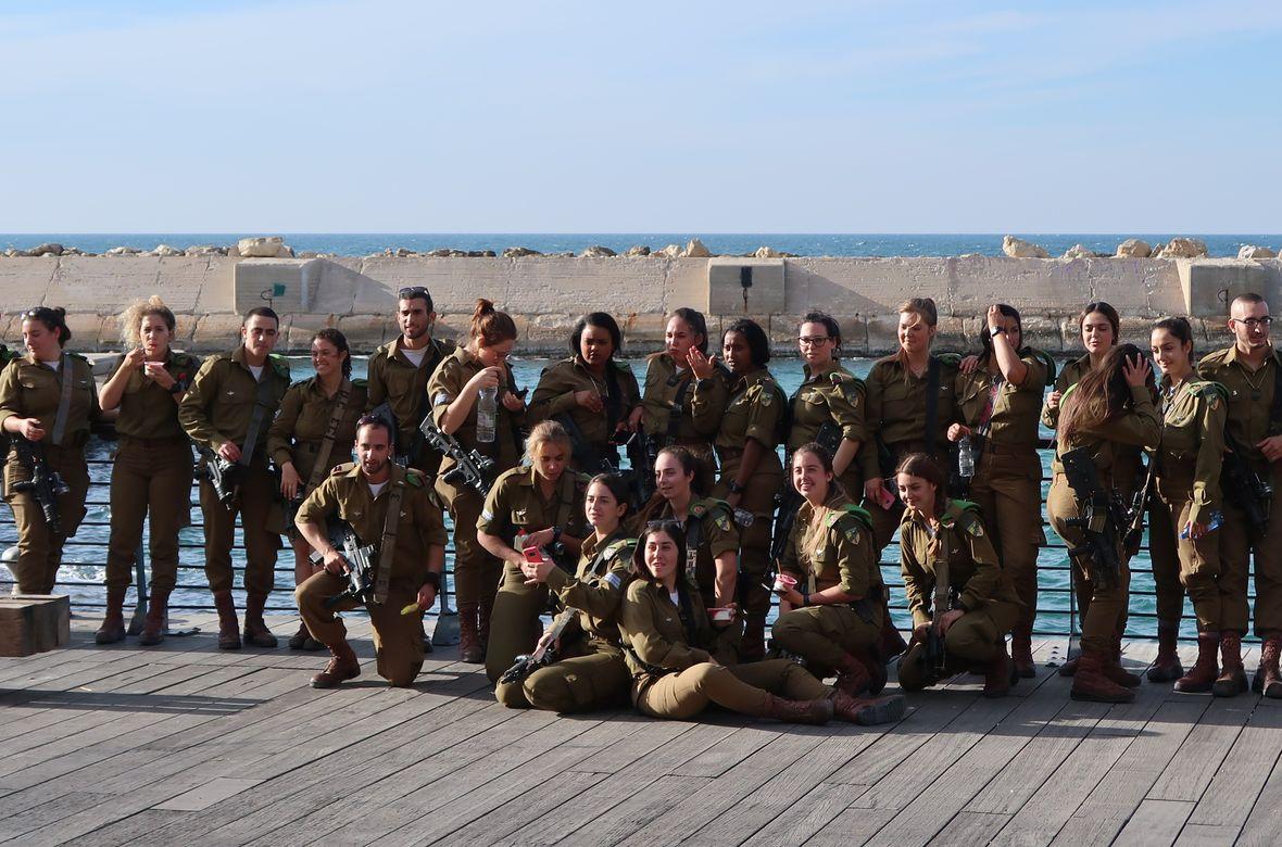 Żołnierze IDF na wycieczce