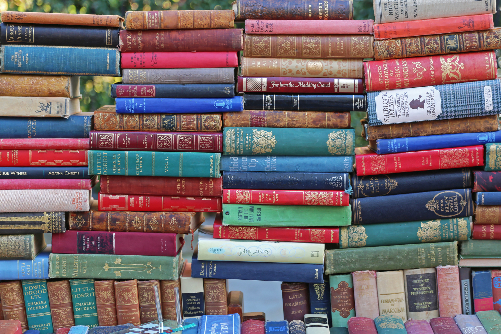 London, United Kingdom - November 22, 2013: Old Classic Books For Sale at Portobello Market in London, UK.