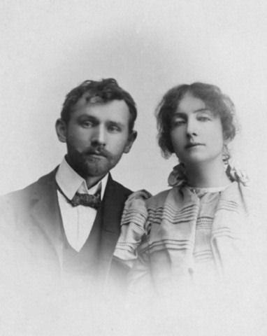 Stanisław Przybyszewski z żoną Dagny