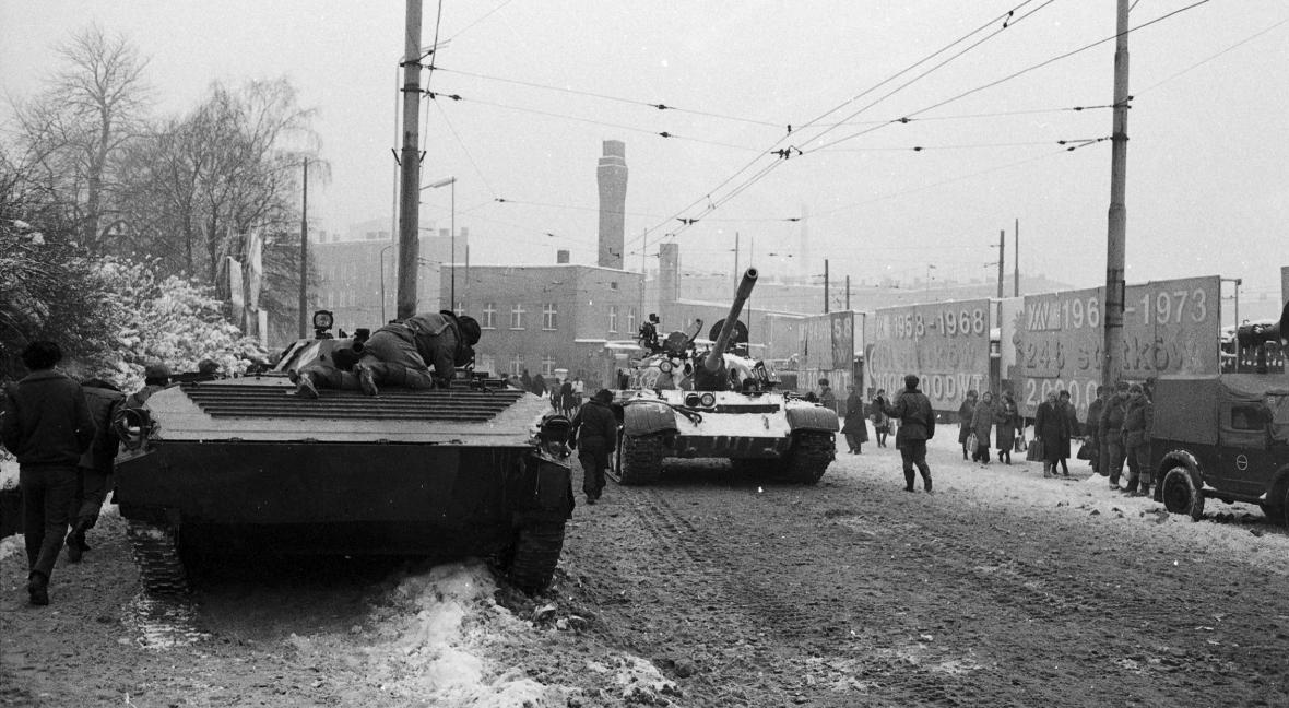 Grudzień 1981 roku, ulice Szczecina, stan wojenny