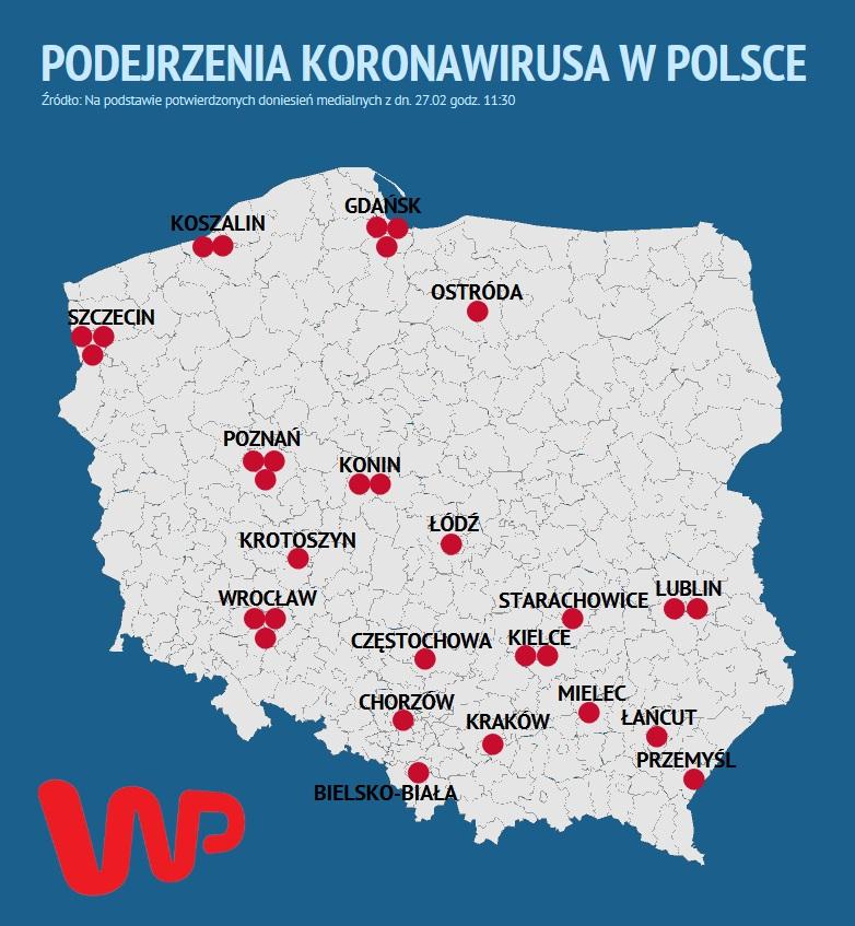 Koronawirus W Polsce Niepotwierdzony Mapa Zagrozenia Wp Wiadomosci