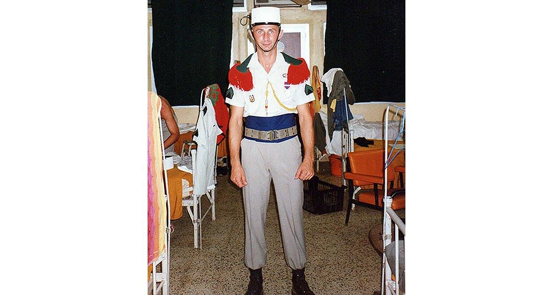 Ryszard Doda w mundurze Legii Cudzoziemskiej