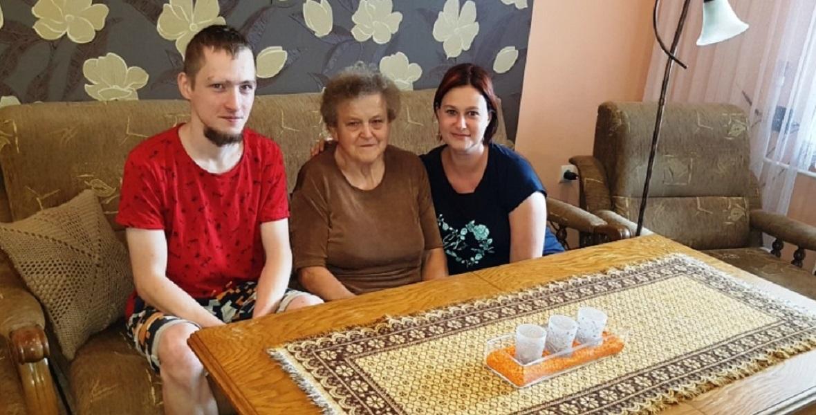 Krewni Franciszka (Franza Honioka). Od lewej: Damian Piskoń, Maria Kubosz, Monika Żurawska