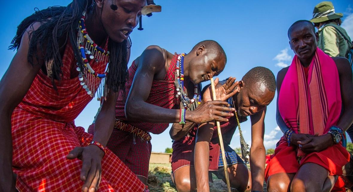 Członkowie grupy etnicznej Masajów
