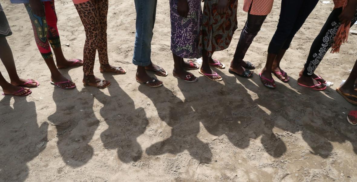Lome, Togo. Dzieci w szkole podstawowej