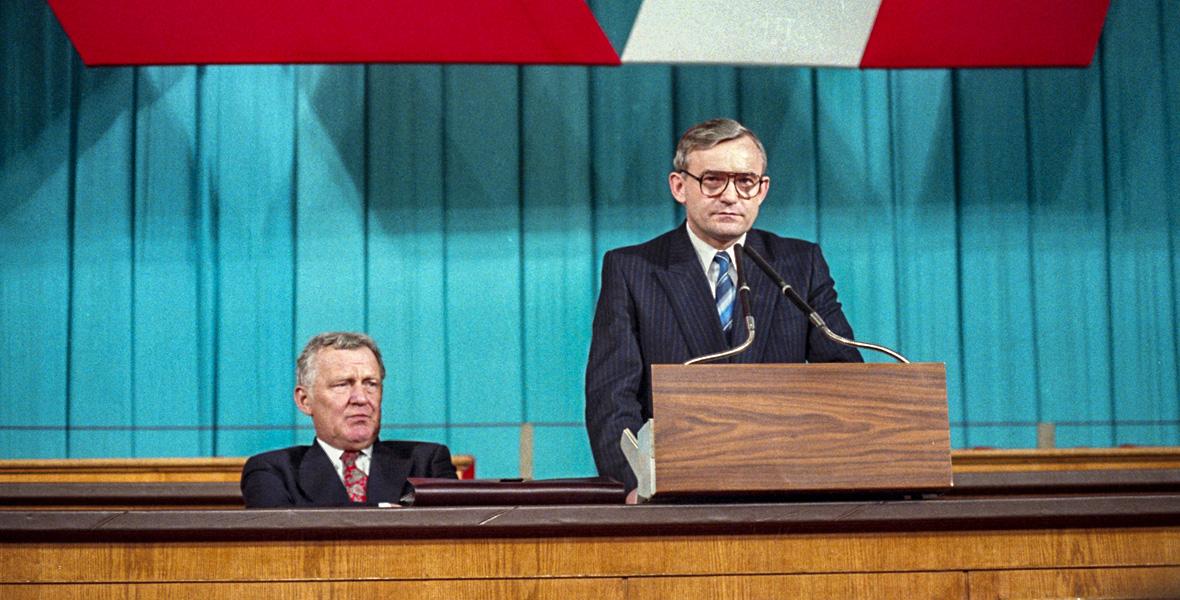 Leszek Miller na ostatnim zjeździe PZPR
