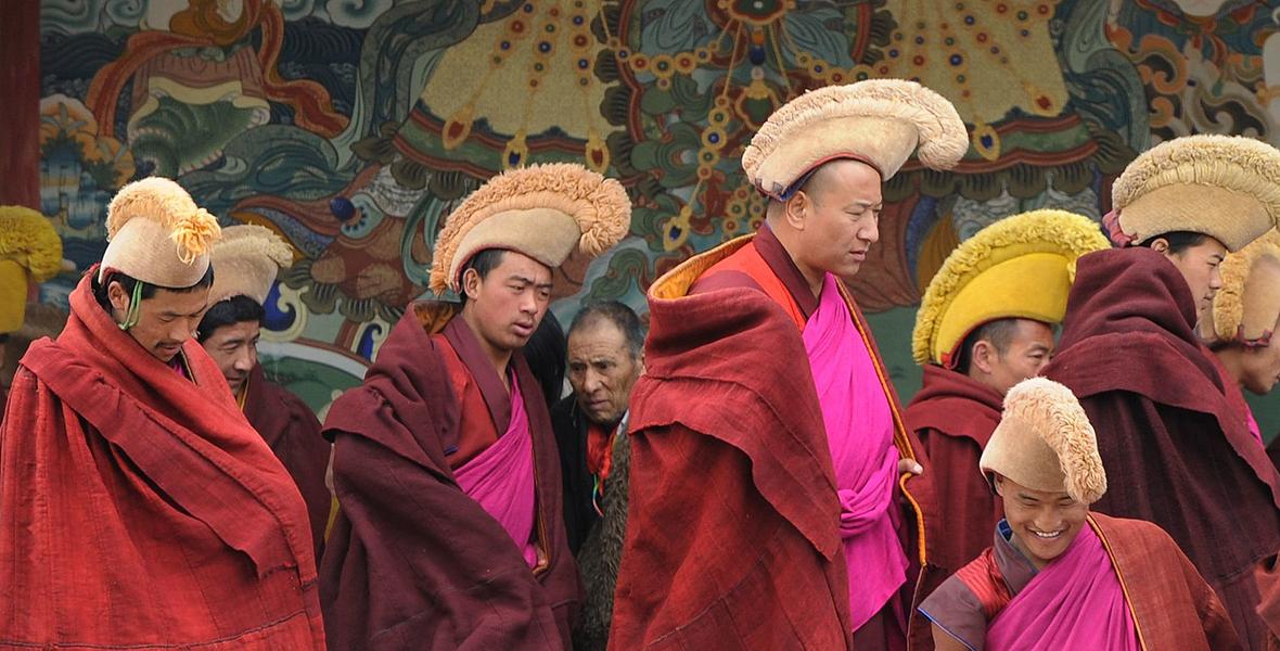 Protest mnichów tybetańskich