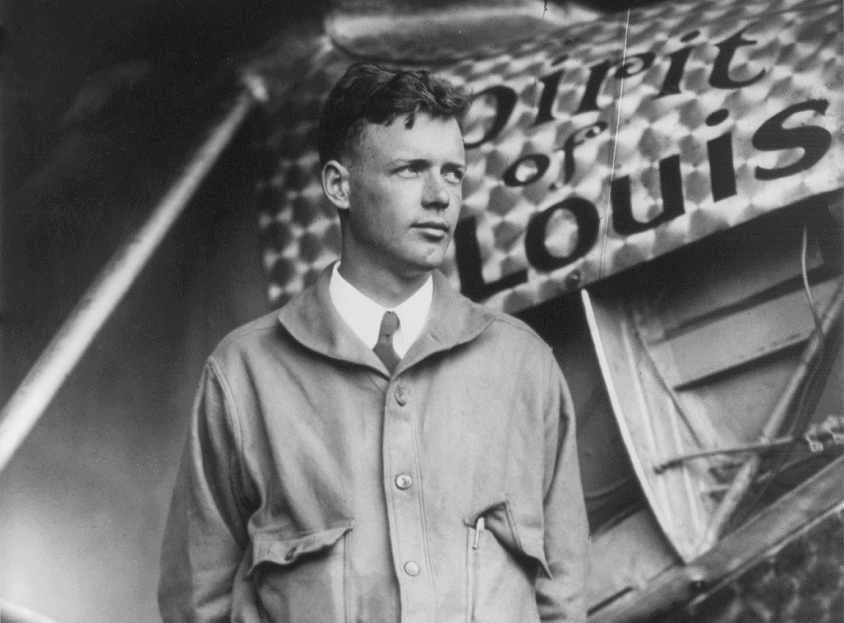 Lindbergh po locie z Nowego Jorku do Paryża, 1927 rok