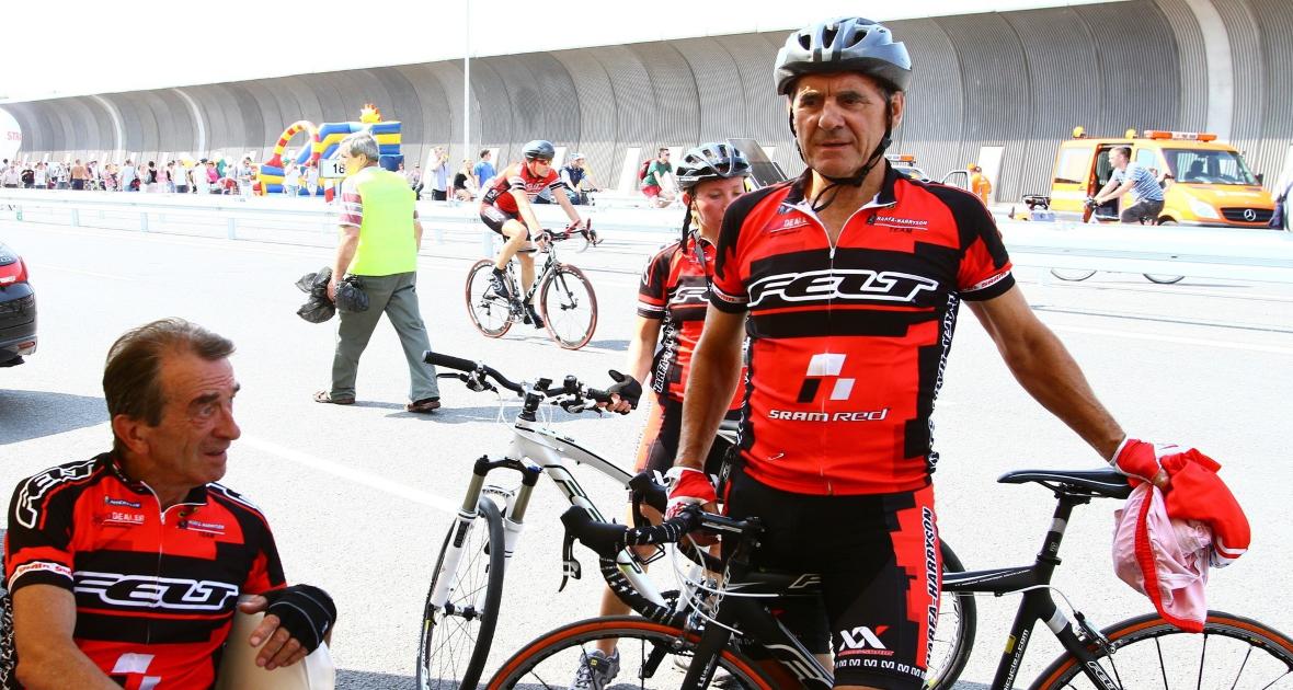 Ryszard Szurkowski w trakcie wyścigu