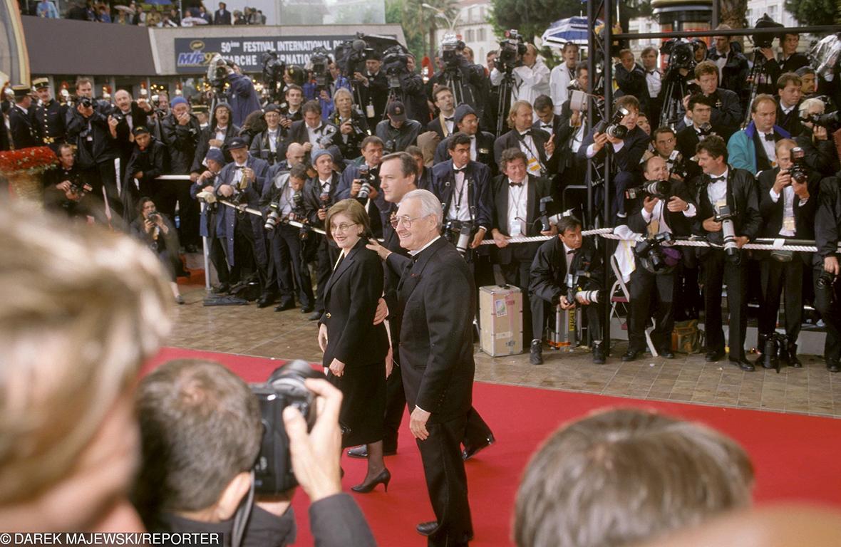 Częstym gościem festiwalu był m.in. Andrzej Wajda. Tu na zdjęciu z żoną w 1998 roku