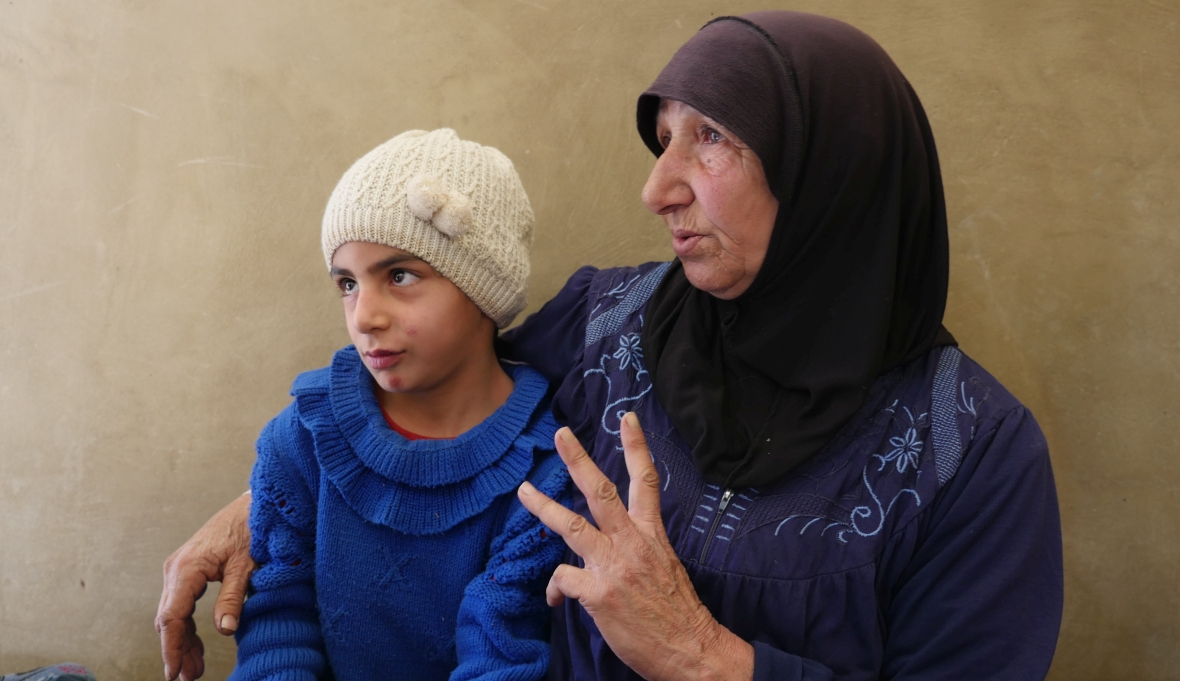 """Amoun, jedna z mieszkanek """"Obozu Wdów"""""""