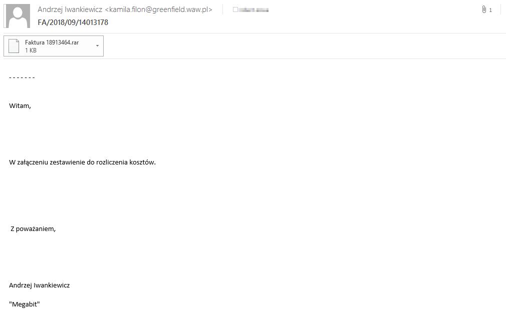 fd769cc712bc79 Uwaga na fałszywe maile. W środku może kryć się groźny wirus - WP Tech