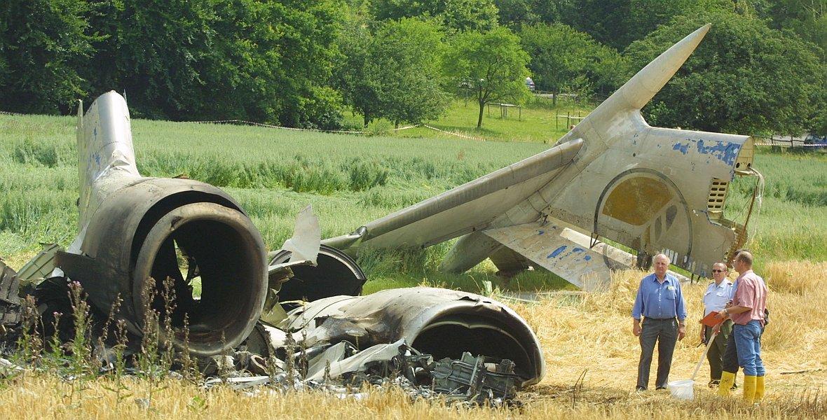 Fragment rozbitego Tu-154