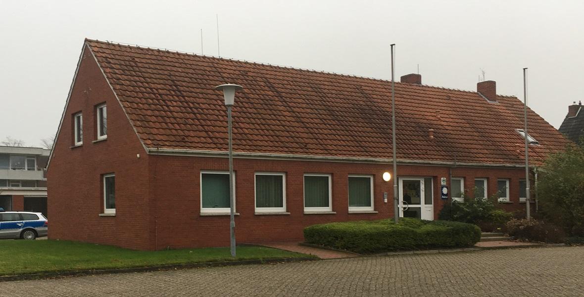 Posterunek policji w Esens dzisiaj. W czasach, kiedy Eilert Dieken był policjantem, posterunek mieścił się w budynkach urzędu miejskiego w centrum miasta
