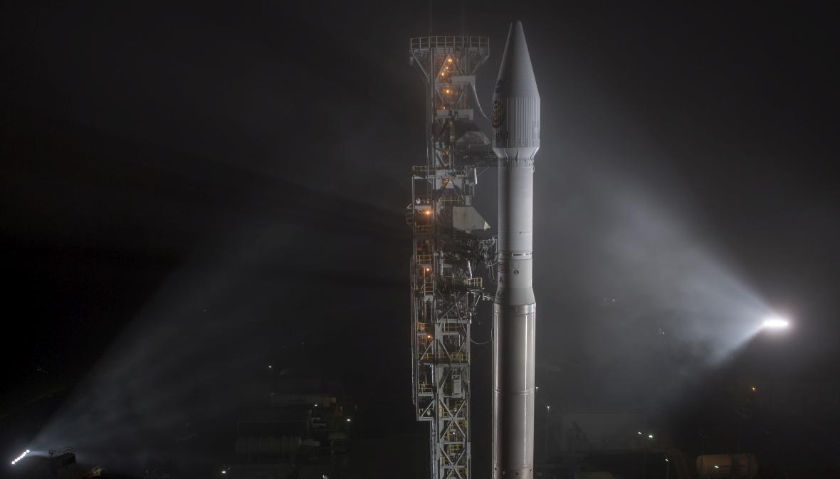 Rakieta Atlas-V ze statkiem NASA InSight gotowa do startu z bazy sił powietrznych USA Vandenberg w Kalifornii, 4 maja 2018 r.
