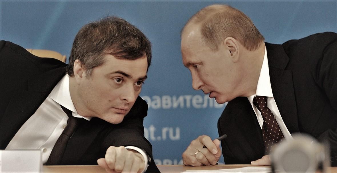 Władisław Surkow i Władimir Putin