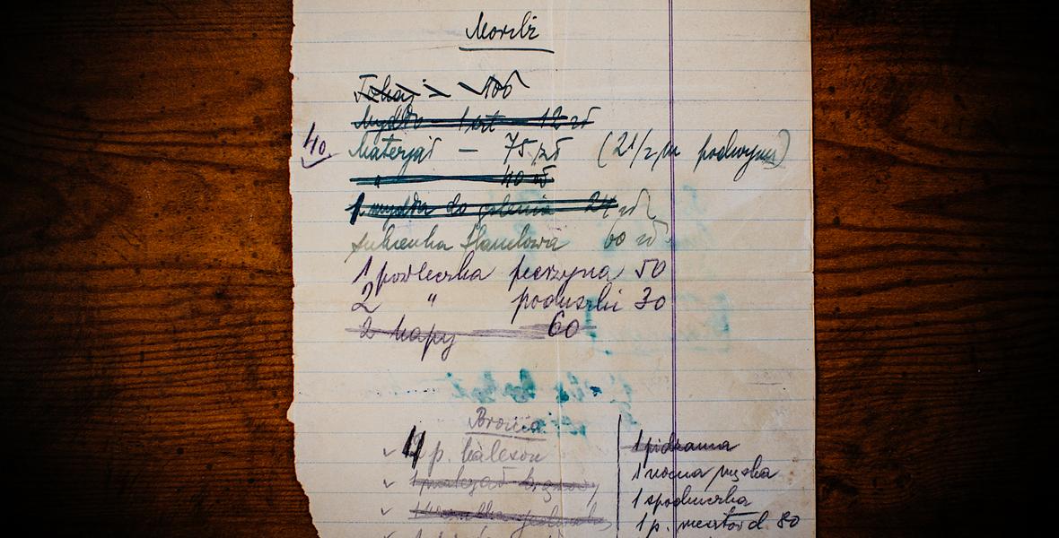 Zapiski Marcelego Najdera z czasów, gdy przebywał w getcie w Kołomyi.